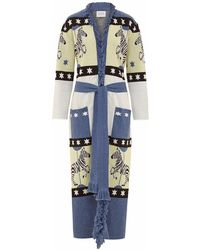 Hayley Menzies - Long Carousel Cardigan Blue - Lyst