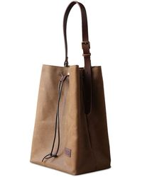 dorayaky - Olga Brown Waxed Canvas Bag - Lyst