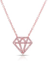 Anne Sisteron - Rose Gold Bling Diamond Necklace - Lyst