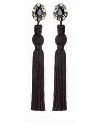 Wafa By Wafa - Black Jasmine Earrings - Lyst