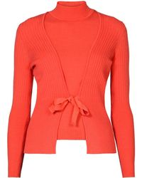 Rumour London - Erika And Erin Coral Two-piece Merino Wool Set - Lyst