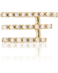 Astrid & Miyu - Crystal Armour Ear Cuff Gold - Lyst