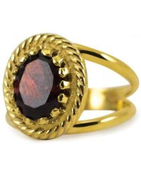 Vintouch Italy - Luccichio Gold Vermeil Garnet Ring - Lyst