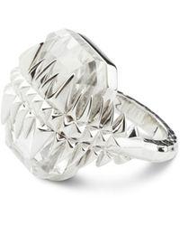 Kasun - Black Sea Glacier Ring Silver & White Topaz - Lyst