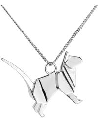 Origami Jewellery | Cat Necklace Silver | Lyst