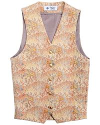 The Bee's Sneeze - Yellow Flower Landscape Waistcoat - Lyst