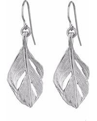 Chupi - I Can Fly Midi Swan Feather Earrings Silver - Lyst