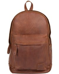MAHI - Leather Classic Backpack Rucksack In Vintage Brown - Lyst
