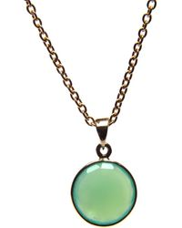 Puck Wanderlust - Chrysoprase Gold May Birthday Charm Necklace - Lyst