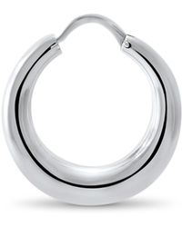 Hargreaves Stockholm | Fealty Silver Creole Hoop Earrings | Lyst