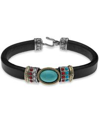 Platadepalo - American Indian Inspired Bracelet With Silver, Bronze & Resins - Lyst