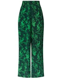 Klements - Pluto Pants In Garden Puppets Print Green - Lyst