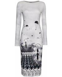Gyunel - Parachute Printed Jersey Dress - Lyst