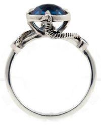 Lee Renee - Seahorse Blue Topaz Ring Silver - Lyst