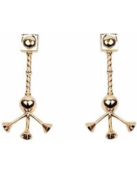 QIYADA - Gold Tripod Earrings - Lyst