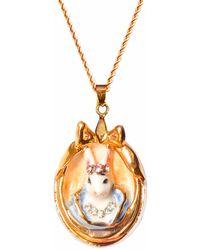 Hop Skip & Flutter - Princess Cottontail Bunny Portrait Pendant Necklace - Lyst