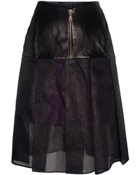 Claire Andrew - Black Pleat Organdie Skirt - Lyst