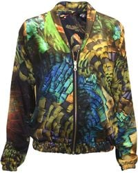 Klements - Penny Bomber Reversible Silk Bomber Jacket In Trash Print & Savage Print - Lyst