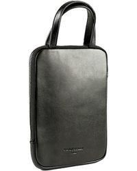 Charlie Baker London - Frankfurt Padded Leather Mini Ipad Case Black - Lyst