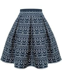 Rumour London - Anna Embroidered Flared Skirt - Lyst