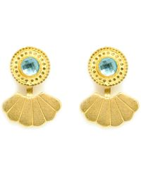 Annabelle Lucilla Jewellery - Eye Of The Ocean Shell Ear Jackets - Lyst