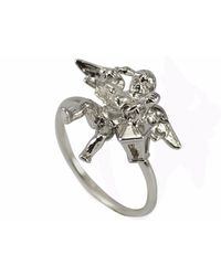 Vintouch Italy | Little Angel Slim Ring | Lyst