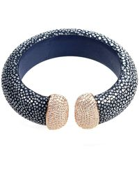 Latelita London Stingray Cuff With An Ocean Blue Stone MjhRc7HKY