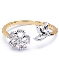 8e15bfb5e Tiffany & Co. 1.36 Carat Round Brilliant Diamond Schlumberger Ring - Lyst