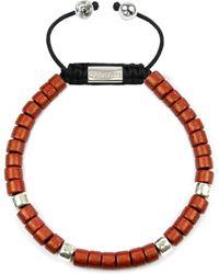 Clariste Jewelry - Men's Ceramic Bead Bracelet Red & Silver - Lyst