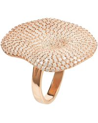 LÁTELITA London - Alessandra Cocktail Ring Rosegold White Cz - Lyst