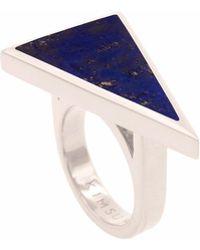 KIMSU - Sterling Silver Triangolo Ring - Lyst
