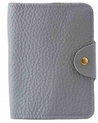N'damus London - Luxury Italian Leather Grey Passport Cover - Lyst