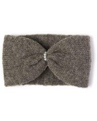 Alma Knitwear   Daphne Alpaca Silk Earwarmer Dark Grey   Lyst