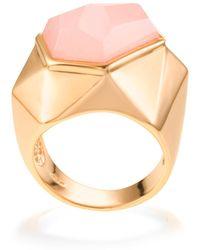 Ona Chan Jewelry - Lattice Cocktail Ring Rose Quartz - Lyst