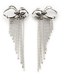 Rachel Entwistle | Drape Chain Spider Earrings Silver | Lyst