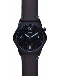 Finn Watches - Fingal's Cave Black With Chocolate Strap - Lyst