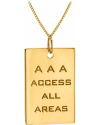 True Rocks - 18kt Gold Plated Silver Aaa Pass Pendant - Lyst