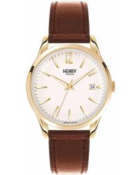 Henry London - Unisex 39mm Westminster Leather Watch - Lyst