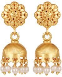 Carousel Jewels - Gold & Pearl Chandelier Drop Earrings - Lyst