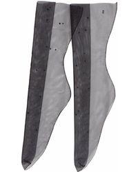 Mémi & Co - Black Tulle Socks With Black Jets - Lyst