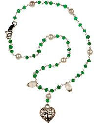 Xanthe Marina - Heart Cross Necklace - Lyst