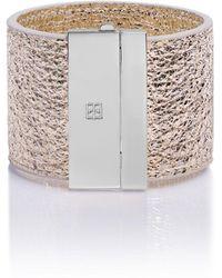 TANCHEL - Negara Cuff Bracelet In Ice Gold Silver - Lyst