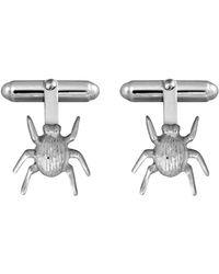 Edge Only - Striped Bug Cufflinks In Silver - Lyst