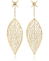 Vitae Ascendere - Forsythia Leaf Earrings - Lyst