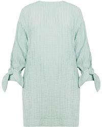 UNDRESS - Apricity Mint Bow Sleeves Mini Dress - Lyst