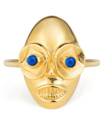 Lee Renee - Voodoo Ghede Ring Gold & Lapis Lazuli - Lyst
