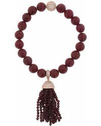 Cosanuova - Red Jade Tassel Bracelet - Lyst