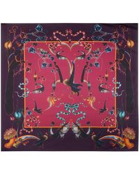 Klements - Scarf In Rainbow Trout Print Wine - Lyst