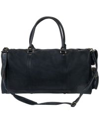 MAHI - Leather Columbus Holdall Bag In Ebony Black - Lyst