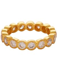 Carousel Jewels - Crystal Quartz Gold Gemstone Band - Lyst